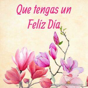 flor carton buenos días